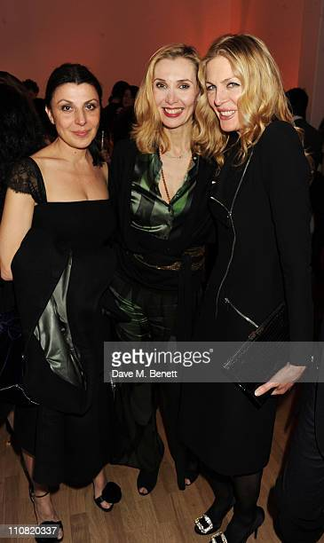 Allegra Donn Allegra Hicks and Priscilla Waters attend the TOD'S Art Plus Drama Party at the Whitechapel Gallery on March 24 2011 in London England