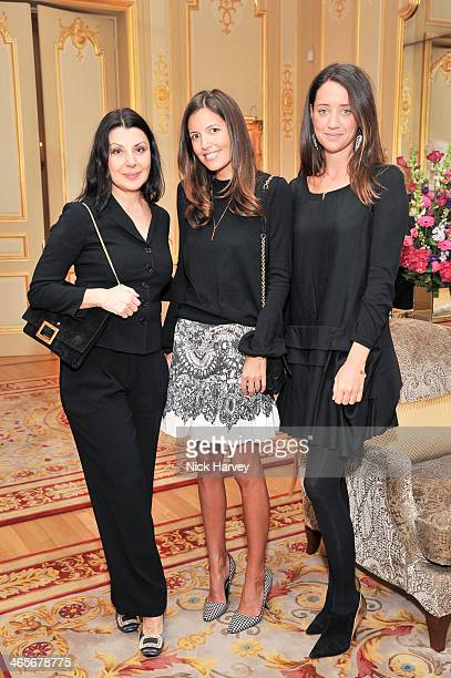Allegra Donn Amanda Sheppard and India Langton attend an evening to celebrate the Roger Vivier RendezVous SpringSummer 2013 limited edition...