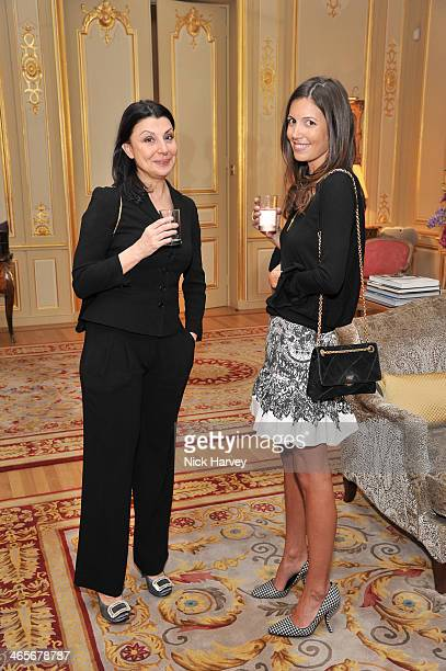 Allegra Donn and Amanda Sheppard attend an evening to celebrate the Roger Vivier RendezVous SpringSummer 2013 limited edition collection on January...