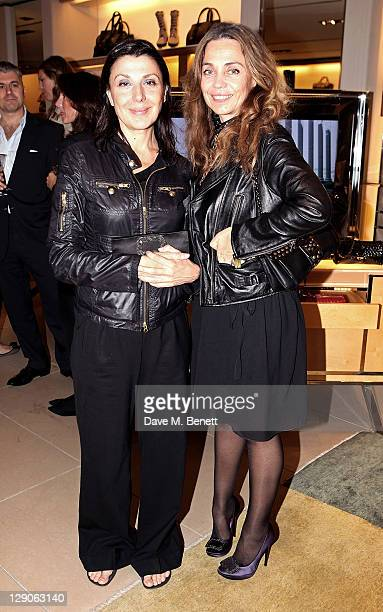 Allegra Donn and Jeanne Marine attend a party hosted by TOD's to celebrate the launch of their new line of bags on October 11 2011 in London England