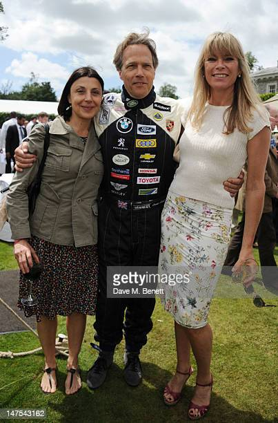 Allegra Donn and Lord Charles March with Deborah Leng attend the Cartier Style Luxury Lunch at the Goodwood Festival of Speed on July 1 2012 in...