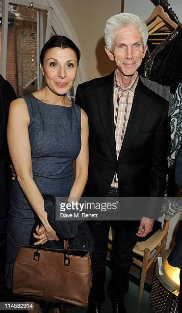 Allegra Donn and Richard Buckley attend author Lucy Siegle's book launch for 'To Die For' at Colin and Livia Firth's store EcoAge on May 23 2011 in...