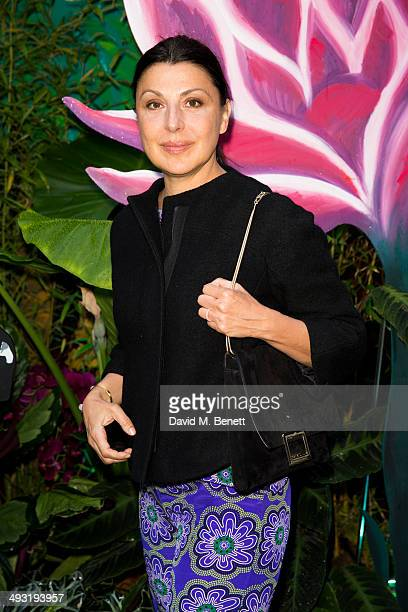 Allegra Donn arrives at Roger Vivier Summer Party at Loulou's on May 22 2014 in London England