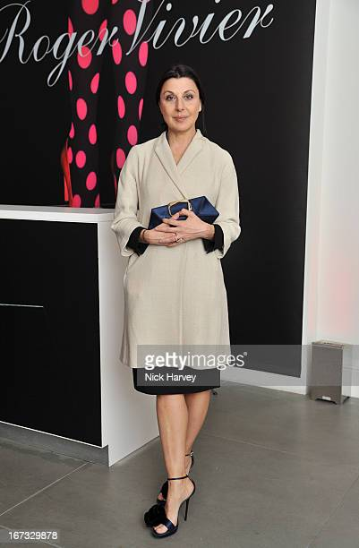 Allegra Donn attends the Roger Vivier book launch party at Saatchi Gallery on April 24 2013 in London England