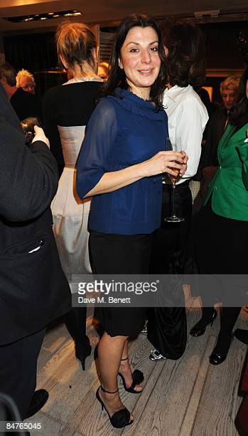 Allegra Donn attends the Roger Vivier Champagne et Chocolat Party at Roger Vivier on February 12 2009 in London England