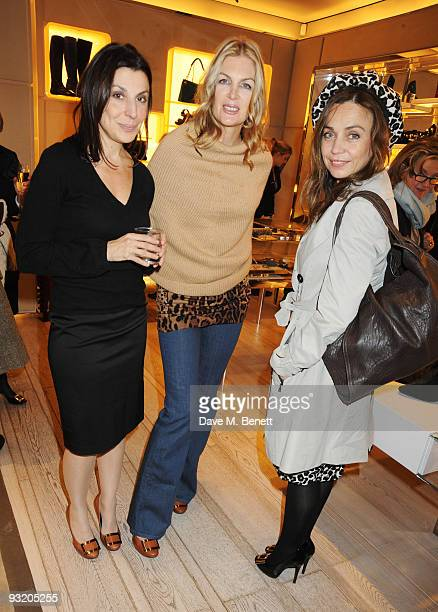 Allegra Donn Priscilla Waters and Jeanne Marinne attend the Roger Vivier Christie's Jewellery London party on November 18 2009 in London England