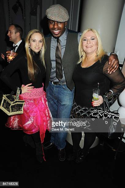Allegra Feltz, Ben Ofoedu and Vanessa Feltz attend the book launch party of 'In Bed With...' hosted by Kathy Lette and Imogen Edwards-Jones, at the...