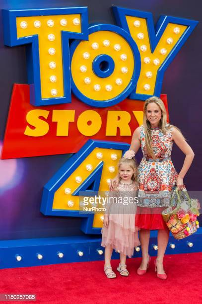 Allegra Kurer arrives for the European film premiere of 'Toy Story 4' at Odeon Luxe Leicester Square on 16 June 2019 in London England