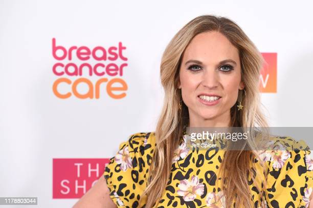 Allegra Kurer attends the Breast Cancer Care London Fashion Show at Park Plaza Westminster Bridge Hotel on October 03 2019 in London England