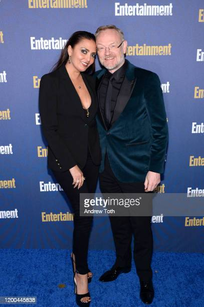 Allegra Riggio and Jared Harris are seen as Entertainment Weekly Celebrates Screen Actors Guild Award Nominees at Chateau Marmont on January 18, 2020...