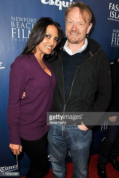 Allegra Riggio and Jared Harris arrive at the 2011 Newport Beach Film Festival Opening Night at Edwards Big Newport on April 28 2011 in Newport Beach...