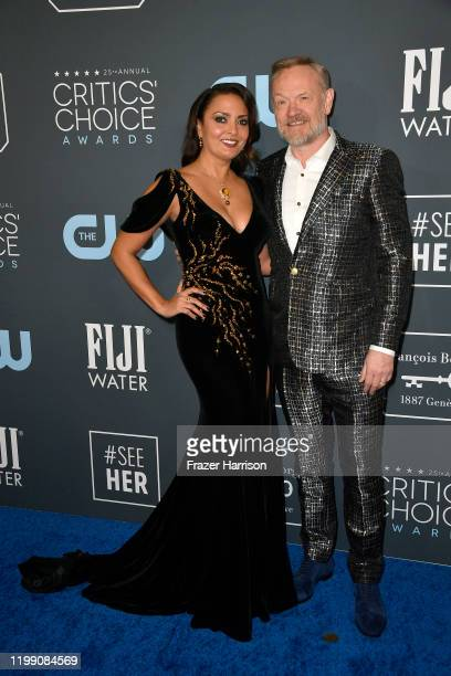 Allegra Riggio and Jared Harris attend the 25th Annual Critics' Choice Awards at Barker Hangar on January 12, 2020 in Santa Monica, California.