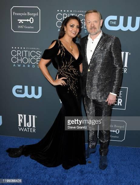 Allegra Riggio and Jared Harris attend the 25th Annual Critics' Choice Awards at Barker Hangar on January 12 2020 in Santa Monica California