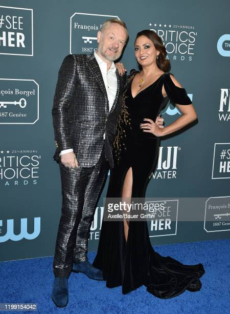 Allegra Riggio and Jared Harris attend the 25th Annual Critics' Choice Awards at Barker Hangar on January 12 2020 in Santa Monica California