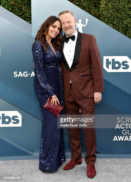 Allegra Riggio and Jared Harris attend the 26th Annual Screen Actors Guild Awards at The Shrine Auditorium on January 19 2020 in Los Angeles...