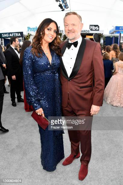 Allegra Riggio and Jared Harris attend the 26th Annual Screen Actors Guild Awards at The Shrine Auditorium on January 19, 2020 in Los Angeles,...