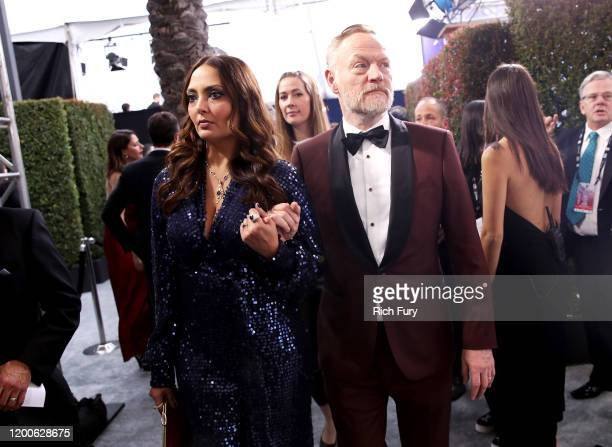 Allegra Riggio and Jared Harris attend the 26th Annual Screen ActorsGuild Awards at The Shrine Auditorium on January 19 2020 in Los Angeles...