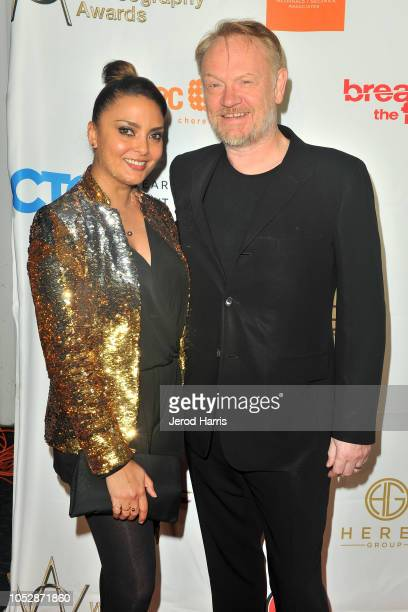 Allegra Riggio and Jared Harris attend the 8th Annual World Choreography Awards at the Saban Theatre on October 23 2018 in Beverly Hills California