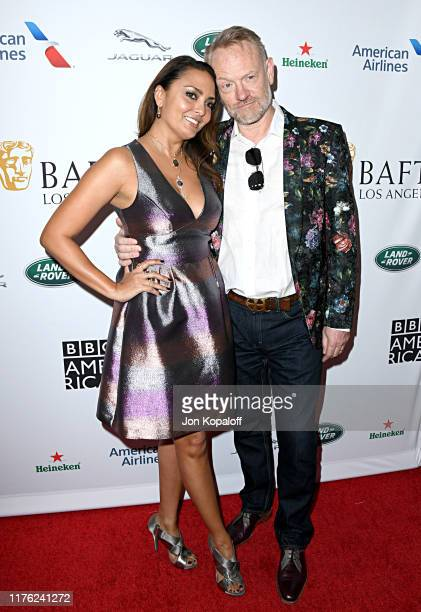 Allegra Riggio and Jared Harris attend the BAFTA Los Angeles BBC America TV Tea Party 2019 at The Beverly Hilton Hotel on September 21 2019 in...