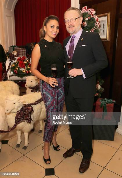 Allegra Riggio and Jared Harris attend the Brooks Brothers holiday celebration with St Jude Children's Research Hospital at Brooks Brothers Rodeo on...