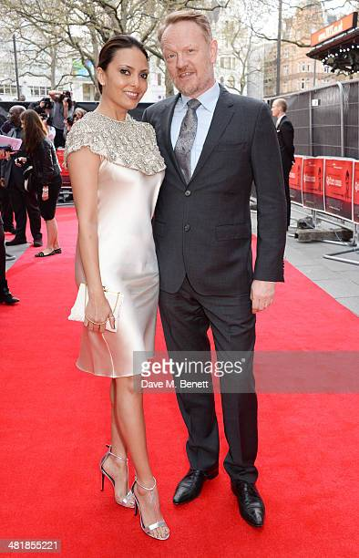 Allegra Riggio and Jared Harris attend the World Premiere of 'The Quiet Ones' at the Odeon West End on April 1 2014 in London England