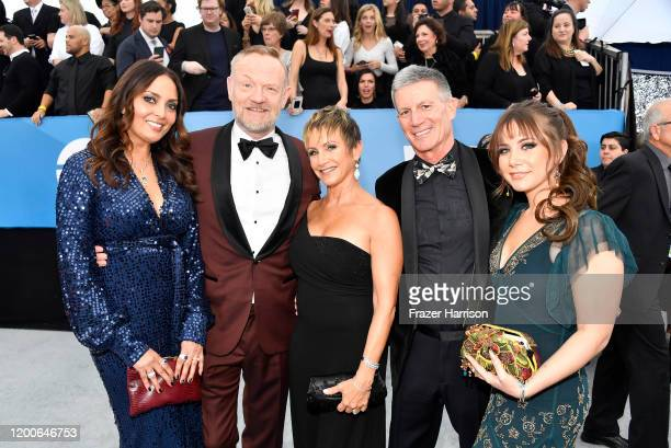 Allegra Riggio Jared Harris Gabrielle Carteris Charles Isaacs and Kelsey Rose attend the 26th Annual Screen ActorsGuild Awards at The Shrine...