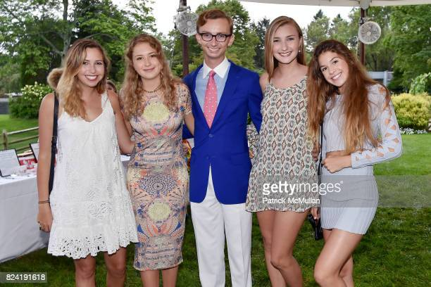 Allegra Rumbough Daisy Johnson Cole Rumbough Kiera Rumbough and Nell Johnson attend Alzheimer's Association Hosts Rita Hayworth Gala Hamptons Kickoff...