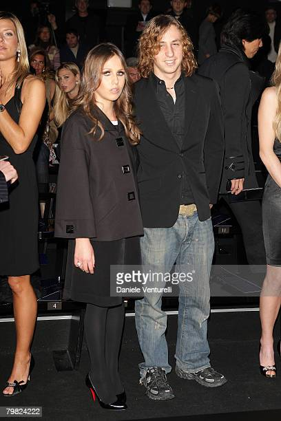 Allegra Versace and Daniel Versace attend the Gianni Versace fashion show as part of Milan Fashion Week Autumn/Winter 2008/2009 on January 12 2008 in...