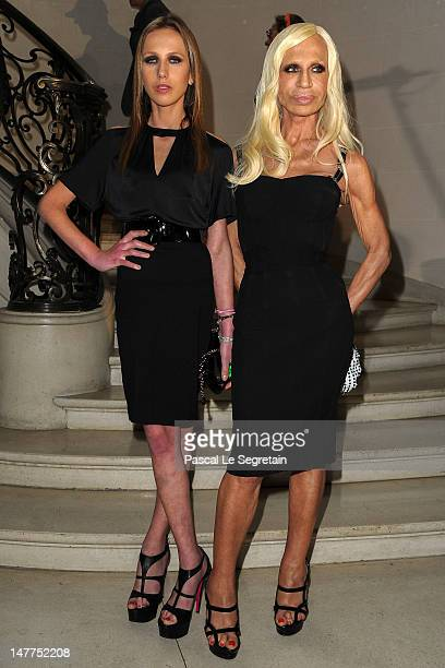 Allegra Versace and Donatella Versace arrive at the Christian Dior HauteCouture show as part of Paris Fashion Week Fall / Winter 2013 on July 2 2012...