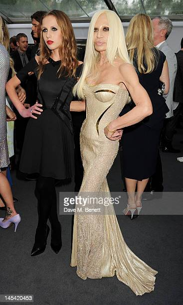 Allegra Versace and Donatella Versace arrive at the Glamour Women of the Year Awards in association with Pandora at Berkeley Square Gardens on May 29...
