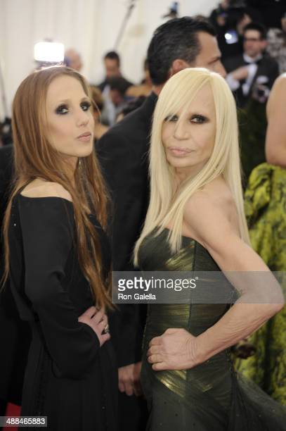 Allegra Versace and Donatella Versace attend 'Charles James Beyond Fashion' Costume Institute Gala at the Metropolitan Museum of Art on May 5 2014 in...