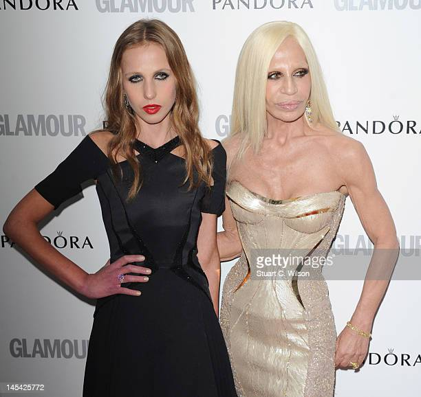 Allegra Versace and Donatella Versace attend Glamour Women of the Year Awards 2012 at Berkeley Square Gardens on May 29 2012 in London England