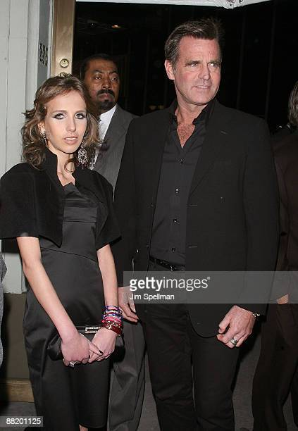 Allegra Versace and father Paul Beck attend the opening night of Blithe Spirit on Broadway at the Shubert Theatre on March 15 2009 in New York City