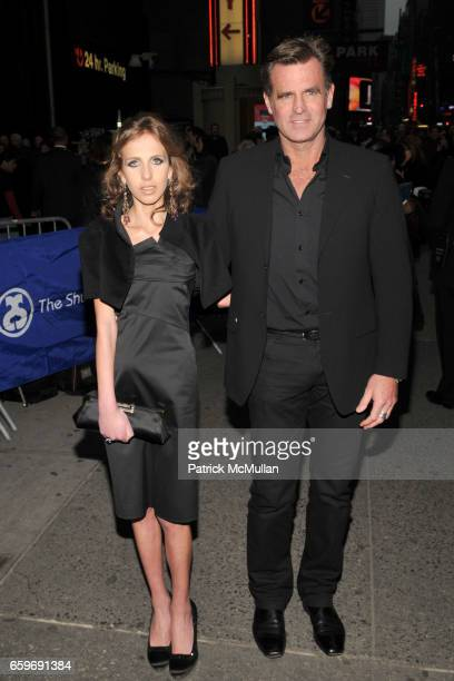 Allegra Versace and Paul Beck attend Noel Coward's BLITHE SPIRIT Opening Theatre Arrivals at Shubert Theatre on March 15 2009 in New York