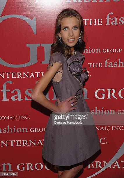 Allegra Versace arrives at The Fashion Group International's 25th Annual Night of Stars at Cipriani Wall Street on October 232008 in New York City