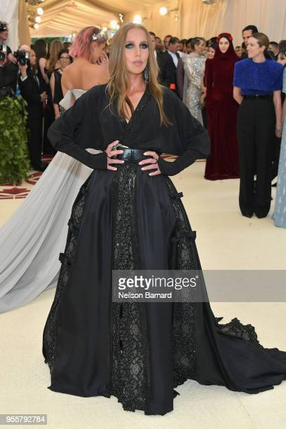 Allegra Versace attends the Heavenly Bodies Fashion The Catholic Imagination Costume Institute Gala at The Metropolitan Museum of Art on May 7 2018...