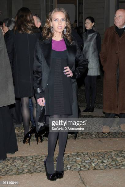 Allegra Versace attends the Vogueit Milan Fashion Week Womenswear Autumn/Winter 2010 show on February 26 2010 in Milan Italy
