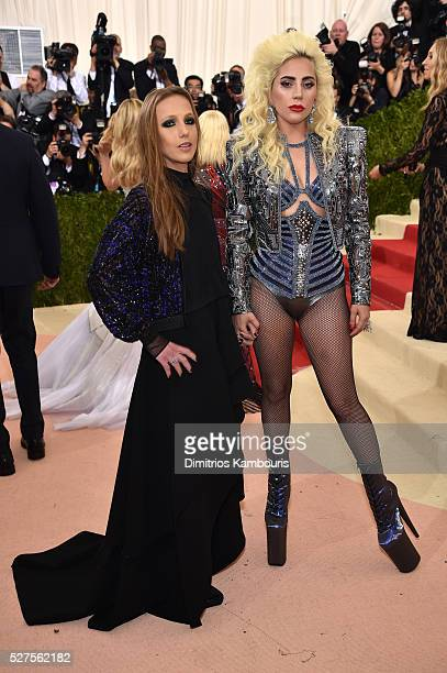 Allegra Versace Beck and Lady Gaga attend the 'Manus x Machina Fashion In An Age Of Technology' Costume Institute Gala at Metropolitan Museum of Art...