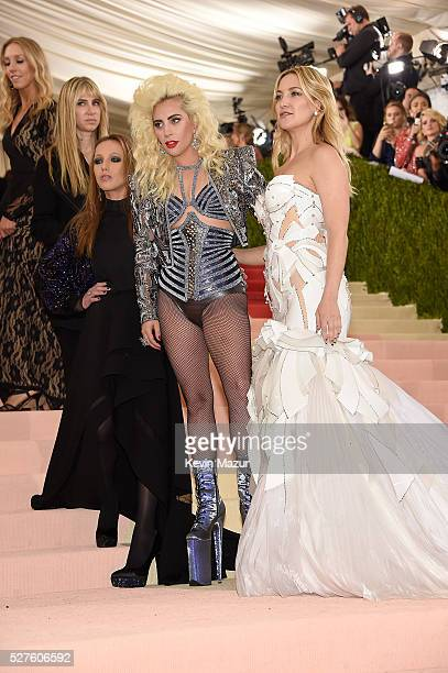 Allegra Versace Beck Lady Gaga and Kate Hudson attend 'Manus x Machina Fashion In An Age Of Technology' Costume Institute Gala at Metropolitan Museum...