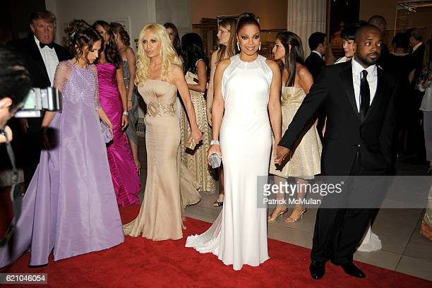 Allegra Versace Donatella Versace Janet Jackson and Jermaine Dupri attend THE COSTUME INSTITUTE GALA SUPERHEROES with honorary chair GIORGIO ARMANI...