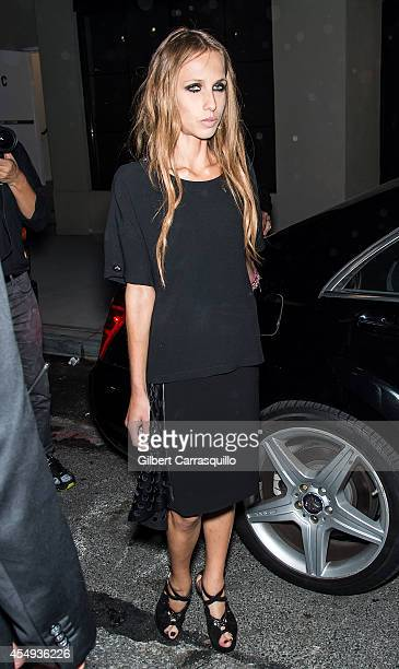 Allegra Versace is seen at the Versus Versace Spring 2015 Collection during MercedesBenz Fashion Week at Metropolitan West on September 7 2014 in New...