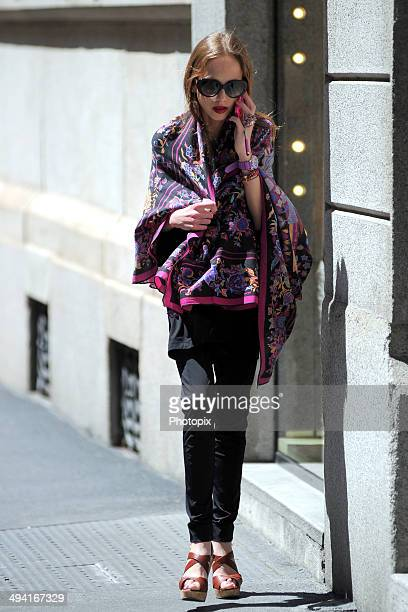 Allegra Versace is seen on May 28 2014 in Milan Italy