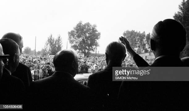 Allemagne août 1957 Konrad ADENAUER chancelier de la République fédérale d'Allemagne à l'heure de la campagne pour les élections fédérales du 15...