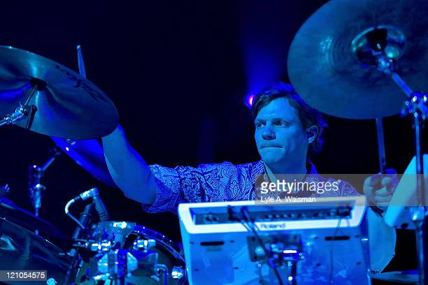 Allen Aucoin of the Disco Biscuits performs at the Congress Theater on January 24, 2009 in Chicago, Illinois.