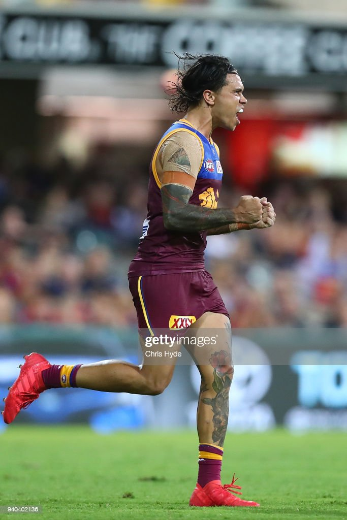 AFL Rd 2 - Brisbane v Melbourne : News Photo