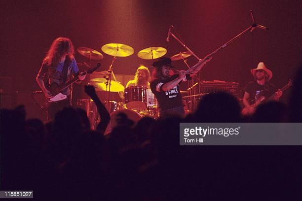 Allen Collins Artimus Pyle Ronnie Van Zant and Leon Wilkeson of Lynyrd Skynyrd