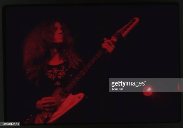 Allen Collins of Lynyrd Skynyrd performs at Richard's Rock Club in Atlanta Georgia circa 1973