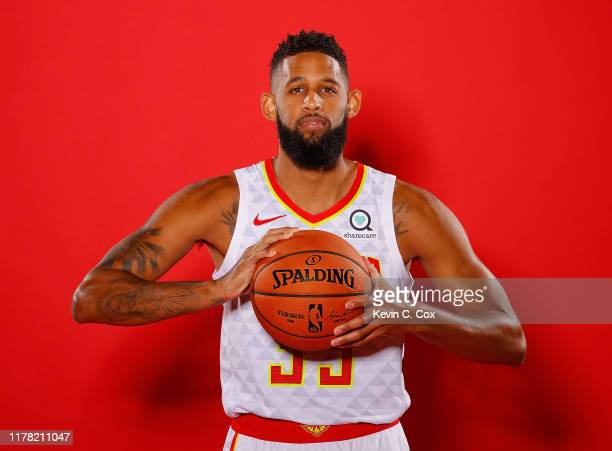 Allen Crabbe of the Atlanta Hawks poses for portraits during media day at Emory Sports Medicine Complex on September 30 2019 in Atlanta Georgia
