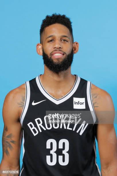 Allen Crabbe of the Brooklyn Nets poses for a head shot during Media Day on September 25 2017 at the HSS Training Center in Brooklyn New York NOTE TO...