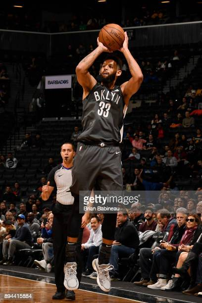 Allen Crabbe of the Brooklyn Nets shoots the ball against the Indiana Pacers on December 17 2017 at Barclays Center in Brooklyn New York NOTE TO USER...